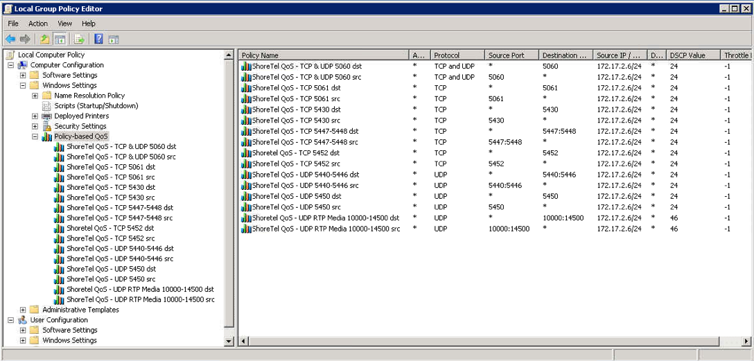 Configuring QoS - DSCP for RTP And Signaling Traffic On